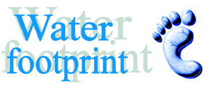 Water footprint_logo: designed by  Chapagain, AK