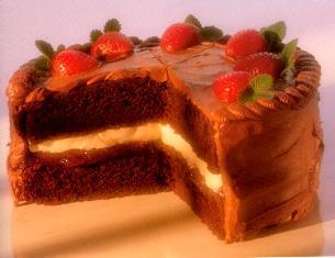 black forest sponge cake: