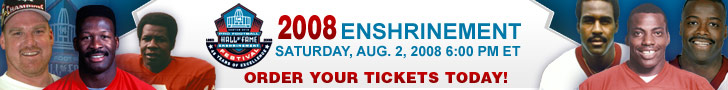 Order your 2008 Enshrinement ticket today!