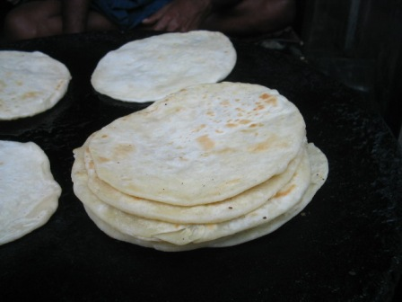hot, fresh parathas: