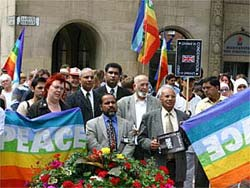 Peace vigil in Manchester last Sunday<span class='black'> (Pic: Richard Searle)</span>