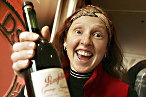 Bronwyn Morris with her 1988 Grange Hermitage