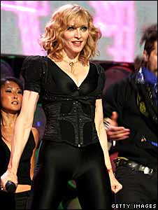 Madonna performing at Live Earth in 2007