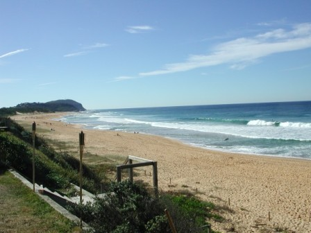 on the beach at terrigal: