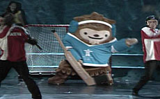 Quatchi, a shy sasquatch, dreams of becoming a world-famous goalie.