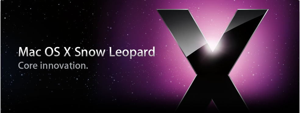 Mac OS X Snow Leopard. Core innovation.