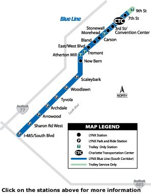 Blue Line Station Map