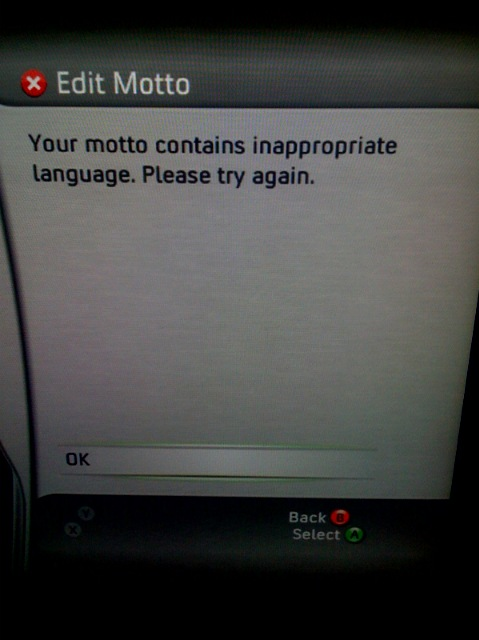 LINUX is inappropiate language