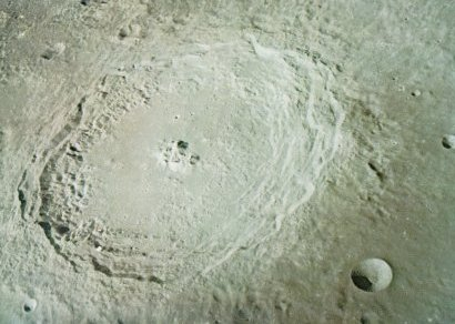 A photo of the crater Langrenus on the Moon