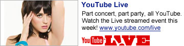 YouTube Live: Part party, part concert, all YouTube. Watch the Live streamed event this week! www.youtube.com/live