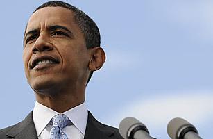 Democratic presidential nominee Barack Obama