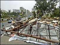 Destroyed billboards, Karachi.