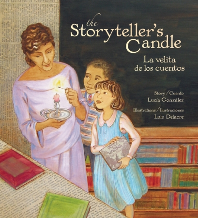 click here for information about THE STORYTELLER'S CANDLE by Lucia Gonzalez