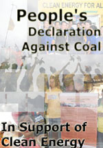 People's Declaration Against Coal
