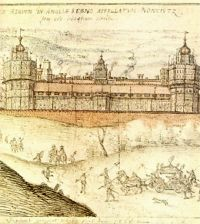 A drawing of Nonsuch Palace by Joris Hoefnagel, late 16th century (British Museum)