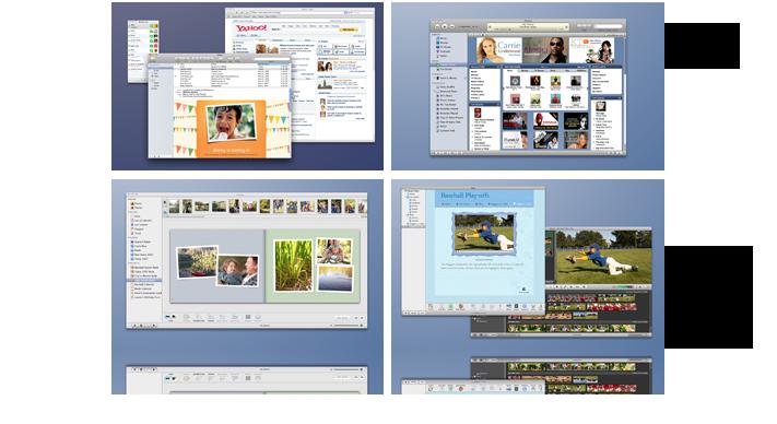 Desktop and Spaces Screenshot