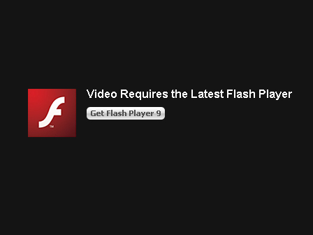 Video requires the latest Flash plugin
