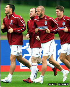 Frank Lampard, Wayne Rooney, David Beckham and Steven Gerrard