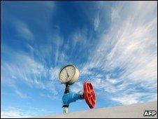 Pressure gauge on gas-compressor station in Ukraine - photo 2 January