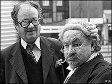 Sir John Mortimer and Leo McKern as Rumpole