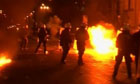 Greek riots monday night