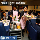 A restaurant in Taiwan is offering airline food, without the turbulance