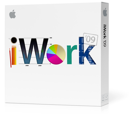 Retail package for iWork '09 software