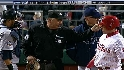 Umpire argues with Rays' dugout