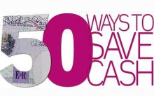 50 ways to save cash graphic (text)