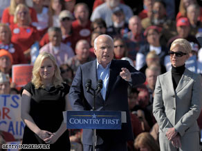 Sen. McCain's daughter, pictured on the left, is speaking out on the impact of her father's latest presidential campaign on her personal life.