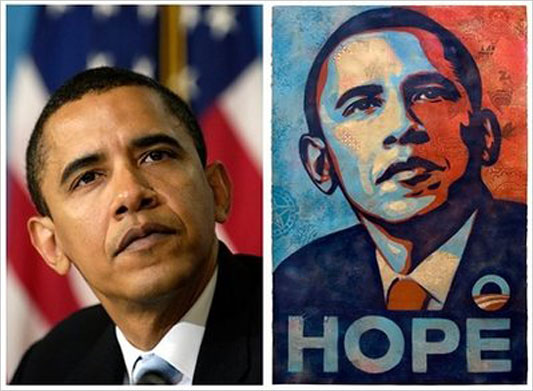 Obama photo and poster