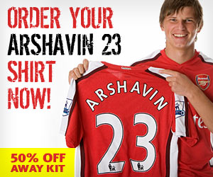 Order your Arshavin 23 shirt now!