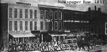 Image of Newspaper Row, 1851