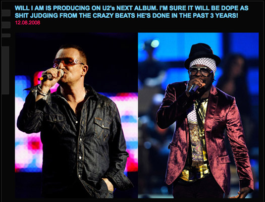Kanye Thinks Will.i.am Is Producing the New U2 Album