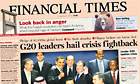 Financial Times G20 agreement front page