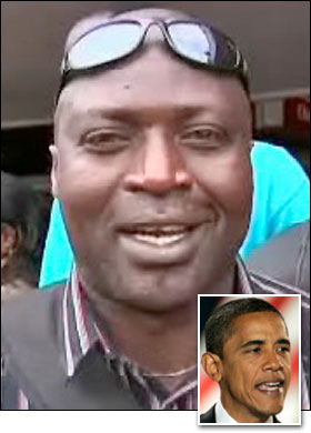 BROTHERS: Samson Obama and (inset) US President Obama