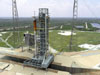 Ares I rocket at Launch Pad 39B at NASA's Kennedy Space Center
