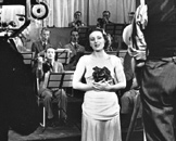 Helen McKay broadcasting to RadiOlympia, August 1936