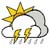 Mostly cloudy with scattered rainshowers & thunderstorms