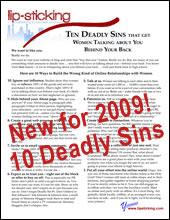 Yvonne's Ten Deadly Sins for 2009