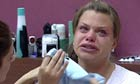 Jade Goody after learning that she had cervical cancer