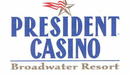 Logo of the President Casino/Broadwater Resort, letterhead stationery found in the ruins of the hotel