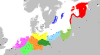 Extent of the Hanseatic League, showing the Circles