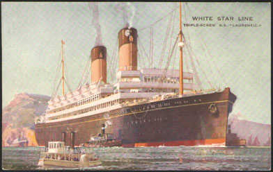 SS Laurentic by Walter Thomas
