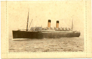 SS Laurentic Letter Card  front view