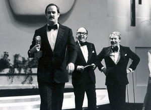 John Cleese, Eric Morcambe and Ernie Wise at the British Academy Television Awards