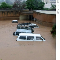 View of the flooded streets of Ouagadougou, Burkina Faso, 01 Sep 2009