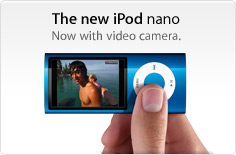 The new iPod nano. Now with video camera.