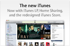 The new iTunes. Now with iTunes LP, Home Sharing, and the redesigned iTunes Store