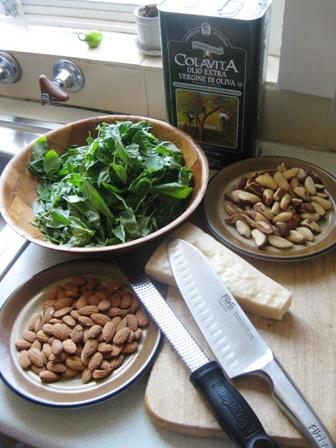 pesto ingredients: